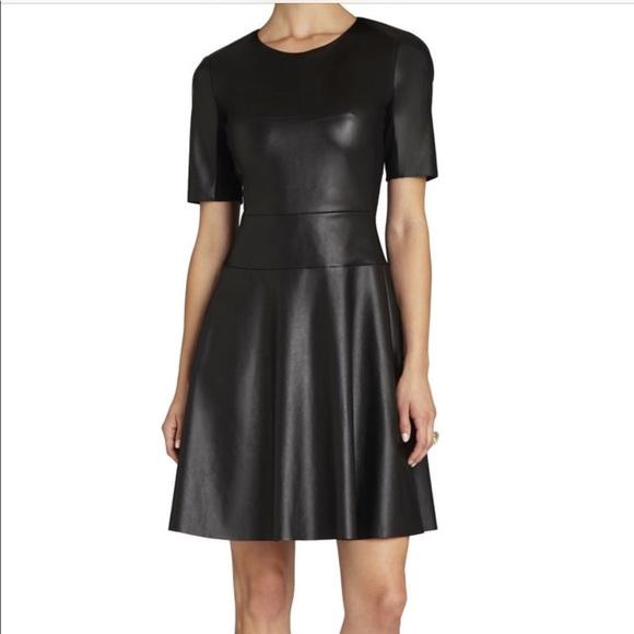 BCBGMaxAzria Dresses & Skirts - BCBG Darra faux leather dress!